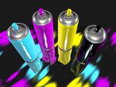 Stock Illustration of spray paint cmyk
