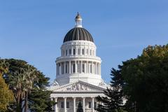 Stock Photo of California State House and Capitol Building, Sacramento