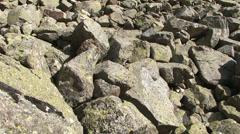 Tilt up on pyrenaic felsenmeer Stock Footage