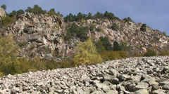 Pan right on felsenmeer in the Pyrenees Stock Footage
