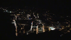 Andorra la Vella at night Stock Footage