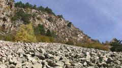 Felsenmeer or blockfield in the pyrenees Stock Footage