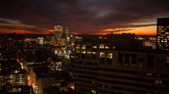 Firey Boston sunset Timelapse - stock footage