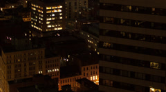 Boston High rise lights timelapse Stock Footage