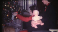 Stock Video Footage of 1950's & 60's  vintage, Christmas dolls