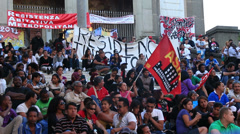 Rome demonstartion - 'Resistenza Abitativa Metropolitana' 12 Stock Footage