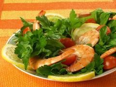Seafish salad Stock Photos