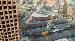 Quincy market from above - stock footage