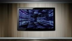 Numbers Room in Monitor - stock footage