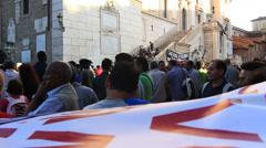 Rome demonstartion - 'Resistenza Abitativa Metropolitana' 10 Stock Footage