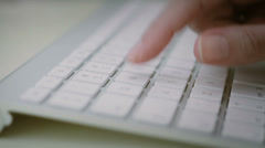 Typing On A Keyboard, Pressing Enter. Stock Footage