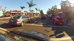 Driving On Pacific Coast Highway In Newport Beach CA - stock footage