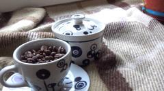 Coffee and cinnamon Stock Footage