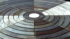Elaborate & Artistic Picnic Table Top- Civic Center Park- Newport Beach CA Stock Footage
