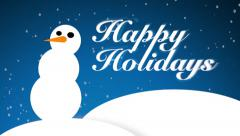 Happy Holidays snowman animation - stock footage