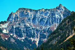 mount chikamin peak snoqualme pass wenatchee national forest washington - stock photo