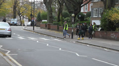 Abbey Road LS Stock Footage
