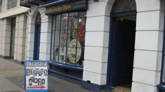 Beatles Store near Abbey Road Stock Footage