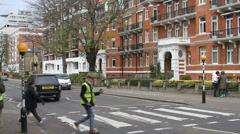 Abbey Road posing Stock Footage