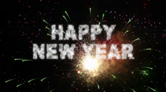 New Year Real Fireworks Grand Finale Loop Stock Footage
