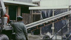 Construction Workers Pour CEMENT 1960s Vintage 8mm Film Home Movie 7464 Stock Footage