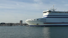 Brittany ferry cruise ship Stock Footage