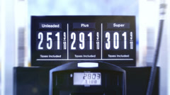 Animated Fuel Pump Price Sign close up Stock Footage
