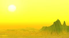 Stock Video Footage of Yellow rocky desert