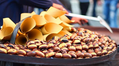 CHESTNUT CHRISTMAS COOKING Stock Footage