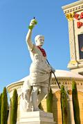 sculpture  in caesar's palace   in las vegas - stock photo