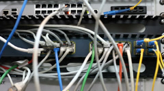 Server room, data center, internet connection, network, IT, communications - stock footage