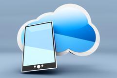 Pad cloud Stock Illustration