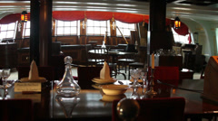 HMS Victory Lord Nelson's Captain's Table Stock Footage