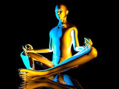 yoga meditation pose - stock illustration