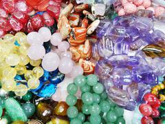 Semigem crystals beads jewellery Stock Photos