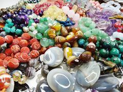 Semigem crystals beads jewellery Stock Photos