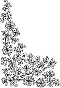 baroque pattern vignette - stock illustration