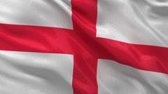 Flag of England seamless loop Stock Footage