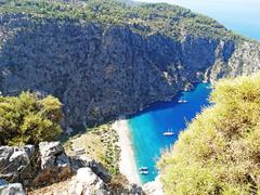 Butterfly valley deep gorge fethiye turkey Stock Photos
