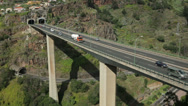 Stock Video Footage of road bridge over ravine in funchal, madeira, portugal
