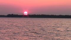 Sunset on Grand Lake St Marys Stock Footage