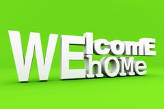 welcome home - stock illustration