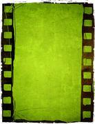 Grunge film frame effect Stock Illustration