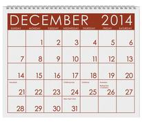 Stock Illustration of 2014 calendar: december