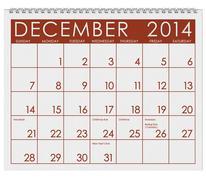 2014 calendar: december Stock Illustration