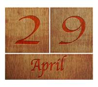 Stock Illustration of wooden calendar april 29.