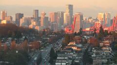 Vancouver Cityscape Morning - stock footage