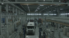 Crane shot down. Manufacturing plant Stock Footage