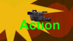 Lights, Camera, Action!  (Animated + Looping) - stock footage