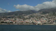 Cliffs of funchal coastline, madeira, portugal Stock Footage